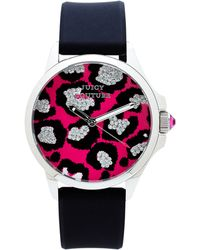Juicy Couture Black  Pink Watch - Lyst