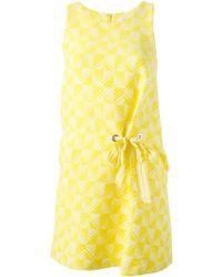 Paul by Paul Smith - Tie-Detail Jacquard Dress - Lyst