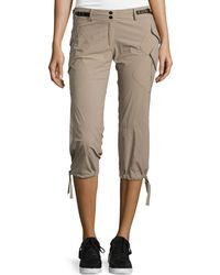 Anatomie Low-Rise Cargo Capri Pants - Natural