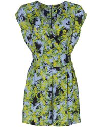 Therapy Palm Print Playsuit - Lyst