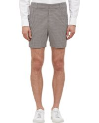 Band of Outsiders Houndstooth Tailored Shorts - Lyst