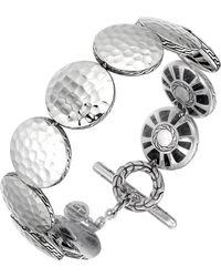 John Hardy Palu Silver Medium Round Disc Bracelet - Lyst