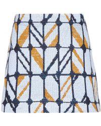Miu Miu Multicolor Woolblend Skirt - Lyst