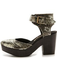 Free People - Percey Clogs - Silver - Lyst