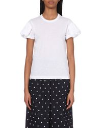 Comme des Garçons Puffed Sleeves Cotton T-Shirt - Lyst