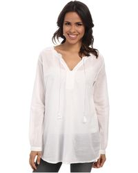 Jag Jeans Clara Cotton Voile Relaxed Fit Tunic - Lyst