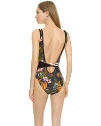 Y-3 - Flower Swimsuit - Black - Lyst