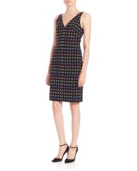 Diane von Furstenberg | Minetta Tweed V-neck Dress | Lyst