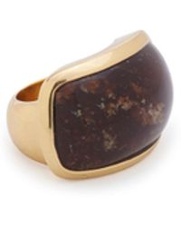 Maiyet Signature Sculpt Ring With Inlay - Lyst