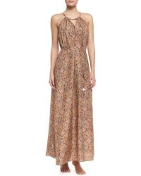 Zimmermann Sundown Silk Paisley Halter Cover Up Maxi Dress - Lyst