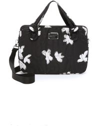 """Marc By Marc Jacobs - Pretty Nylon Painted Flower 15"""" Commuter Bag - Black Multi - Lyst"""