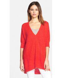 Eileen Fisher Oversized Knit Sweater - Lyst
