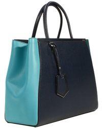Fendi Handbag 2 Jours Medium Leather Bicolor - Lyst
