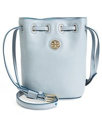 Tory Burch 'mini Brody' Crossbody Bucket Bag - Blue