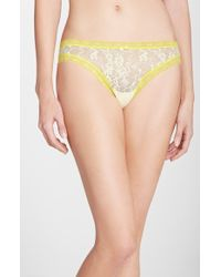 DKNY 'Signature Lace' Thong - Lyst