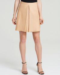 Alice + Olivia Alice + Olivia Skirt - Russo Leather Inverted Pleat - Lyst