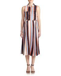 Elle Sasson Lucky Silk Striped Dress - Lyst