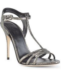 Polo Ralph Lauren Rayna Metallic Leather Sandal