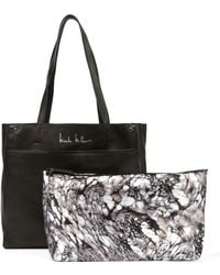 Nicole Miller Nicole Leather Tote - Black