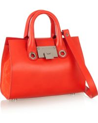 Jimmy Choo Riley Mini Leather And Suede Shoulder Bag - Lyst