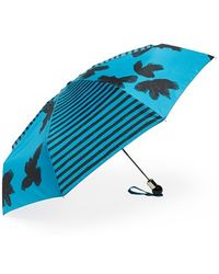 Marc By Marc Jacobs 'grand Painted Flower' Umbrella - Blue