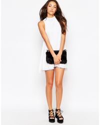 Bitching & Junkfood Palladium High Neck Mesh Dress - White