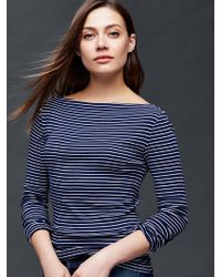Gap | Modern Boatneck Mini Stripe Tee | Lyst