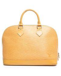 Louis Vuitton Preowned Yellow Epi Leather Alma Pm Bag - Lyst