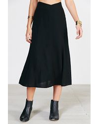 Kimchi Blue Scoop-Waist Midi Skirt - Lyst