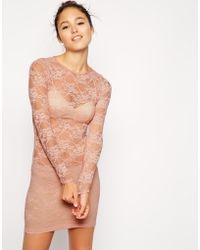 American Apparel Lace Mini Dress - Lyst