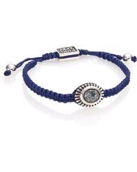 King Baby Studio   Turquoise & Sterling Silver Macramé Slide Bracelet   Lyst
