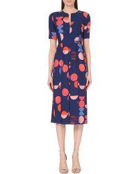 Victoria, Victoria Beckham Big Dot Printed Crepe Dress - For Women - Lyst