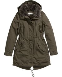 H&M Lined Parka - Lyst
