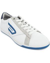 Diesel East Cop Blue White Low Rise Sneakers - Lyst