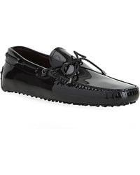 Tod's Laced Gommino Patent Leather Driving Shoe - Lyst