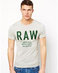 G-star Raw G Star Tshirt Ace Slim Raw Logo - Lyst