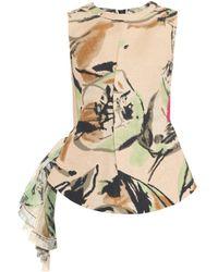 Marni Arboreum-Print Cotton-Blend Top - Lyst