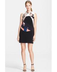 Victoria, Victoria Beckham Print Crepe Shift Dress - Lyst