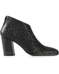Haider Ackermann Woven Ankled Boots - Lyst