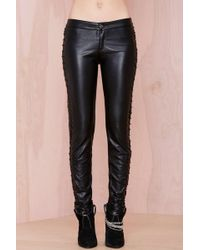 Nasty Gal Nightwalker Tie Me Up Faux Leather Pant - Lyst