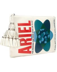 Anya Hindmarch Ariel Embossed Leather Clutch - Lyst