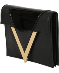 Anthony Vaccarello X Versus Versace Leather Clutch with Patent Detail - Lyst