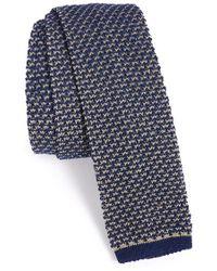 Maker & Company Knit Cotton Tie - Blue