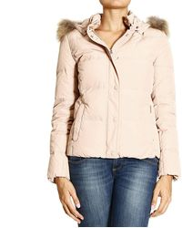 Woolrich Delano Short Down Jacket with Fur On Hood - Lyst