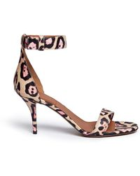 Givenchy '8 Infinity' Jaguar Print Leather Sandals - Multicolor