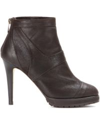 Jimmy Choo Druce Leather Ankle Boots - Lyst
