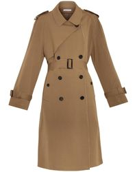 J.W. Anderson Wool-Blend Drill Trench Coat brown - Lyst