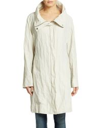 Eileen Fisher Petite Organic Cotton-Blend Coat - Lyst