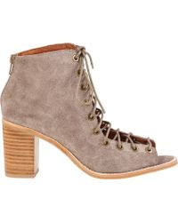 Jeffrey Campbell Cors Ankle Boot Taupe Suede - Lyst