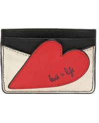 Diane von Furstenberg Patchwork Heart Tuxedo Card Case - Red